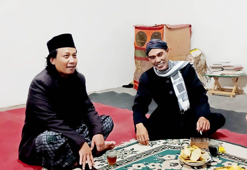 Kyai Sableng bersama Mbah Geng (Kyai Petruk) Pengasuh Padepokan Budoyo Luhur